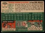 1954 Topps #7  Ted Kluszewski  Back Thumbnail