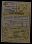 1974 Topps #266  Bob Brown  Back Thumbnail