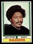 1974 Topps #14  Jack Tatum  Front Thumbnail