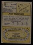 1974 Topps #406  Jim Turner      Back Thumbnail