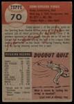1953 Topps #70  Ed Yuhas  Back Thumbnail