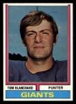 1974 Topps #258  Tom Blanchard  Front Thumbnail