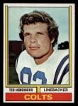 1974 Topps #385  Ted Hendricks  Front Thumbnail