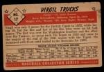 1953 Bowman B&W #17  Virgil Trucks  Back Thumbnail