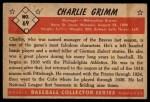 1953 Bowman #69  Charlie Grimm  Back Thumbnail