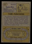 1974 Topps #527  Tom Funchess  Back Thumbnail