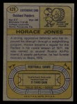 1974 Topps #429  Horace Jones  Back Thumbnail