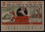 1956 Topps #20  Al Kaline  Back Thumbnail