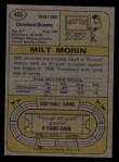 1974 Topps #466  Milt Morin  Back Thumbnail