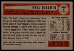 1954 Bowman #1  Phil Rizzuto  Back Thumbnail