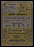 1974 Topps #13  John Fuqua  Back Thumbnail