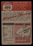1953 Topps #199  Marion Fricano  Back Thumbnail