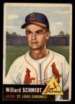 1953 Topps #168  Willard Schmidt  Front Thumbnail