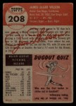 1953 Topps #208  Jimmy Wilson  Back Thumbnail