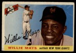 1955 Topps #194  Willie Mays  Front Thumbnail