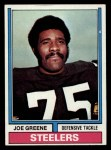1974 Topps #40  Joe Greene  Front Thumbnail