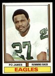 1974 Topps #47  Po James  Front Thumbnail