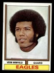 1974 Topps #242  Vern Winfield  Front Thumbnail