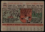 1956 Topps #331  Dick Hall  Back Thumbnail