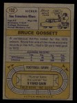 1974 Topps #132   -  Bruce Gossett All-Pro Back Thumbnail