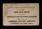 1922 E121-120 American Caramel  Wilbert Robinson  Back Thumbnail