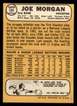 1968 Topps #144  Joe Morgan  Back Thumbnail