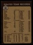 1973 Topps #26   Pirates Team Back Thumbnail