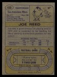1974 Topps #488  Joe Reed  Back Thumbnail