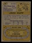 1974 Topps #204  Jake Kupp  Back Thumbnail