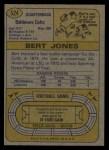 1974 Topps #524  Bert Jones  Back Thumbnail