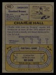 1974 Topps #403  Charlie Hall  Back Thumbnail