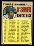 1968 Topps #454 TCH  -  Frank Robinson Checklist 6 Front Thumbnail