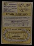 1974 Topps #357  Brian Dowling  Back Thumbnail