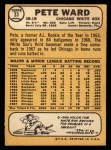 1968 Topps #33  Pete Ward  Back Thumbnail