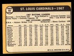 1968 Topps #497   Cardinals Team Back Thumbnail
