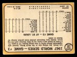 1968 Topps #153   -  Nelson Briles 1967 World Series - Game #3 - Briles Cools Off Boston Back Thumbnail