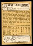 1968 Topps #422  Rene Lachemann  Back Thumbnail