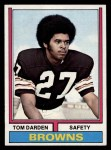 1974 Topps #316  Thom Darden  Front Thumbnail