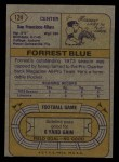 1974 Topps #124 TOP  -  Forrest Blue All-Pro Back Thumbnail