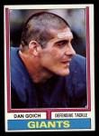 1974 Topps #102  Dan Goich  Front Thumbnail