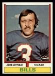 1974 Topps #288  John Leypoldt  Front Thumbnail