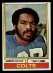 1974 Topps #456  Raymond Chester  Front Thumbnail