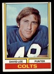 1974 Topps #17  David Lee  Front Thumbnail