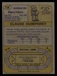 1974 Topps #136   -  Claude Humphrey All-Pro Back Thumbnail