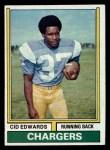 1974 Topps #176  Cid Edwards  Front Thumbnail