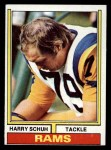 1974 Topps #109 ONE Harry Schuh  Front Thumbnail