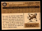 1960 Topps #66  Bob Trowbridge  Back Thumbnail