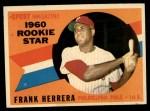 1960 Topps #130   -  Frank Herrera Rookie Star Front Thumbnail