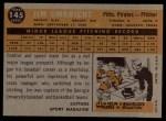 1960 Topps #145   -  Jim Umbricht Rookie Star Back Thumbnail