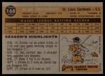1960 Topps #168  Alex Grammas  Back Thumbnail